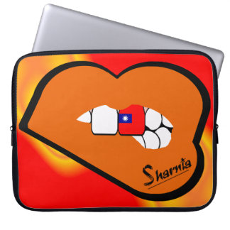 Capa Para Computador A bolsa de laptop de Formosa dos lábios de Sharnia