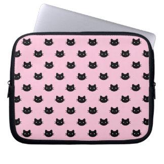 Capa Para Computador A bolsa de laptop do gato preto