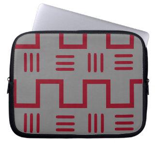 Capa Para Computador A bolsa de laptop étnica de pano da lama