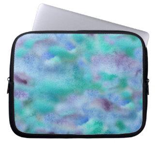 """Capa Para Computador A bolsa de laptop roxa 10"""" de turquesa"""