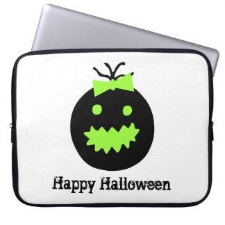 Capa Para Computador Abóbora bonito do Dia das Bruxas com arco