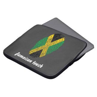 Capa Para Computador Bandeira jamaicana da impressão digital do toque