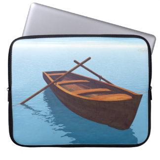 Capa Para Computador Barco de madeira - 3D rendem