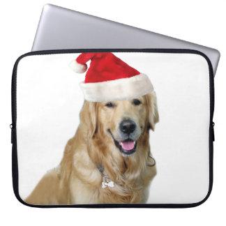 Capa Para Computador Cão-animal de estimação do cão-papai noel de claus