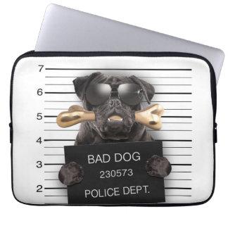 Capa Para Computador Cão do Mugshot, pug engraçado, pug