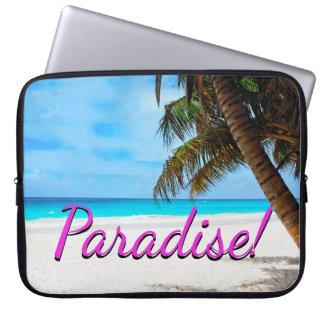 Capa Para Computador Céu, praia, palmeiras - paraíso!