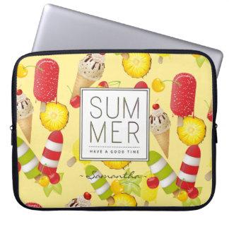 Capa Para Computador Divertimento das frutas e do gelado do verão
