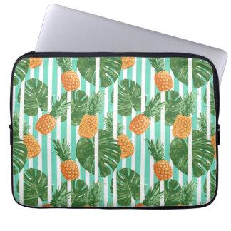 Capa Para Computador Do vetor tropical do abacaxi do vintage teste