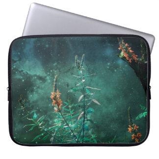 Capa Para Computador Flores feericamente no luar do jade