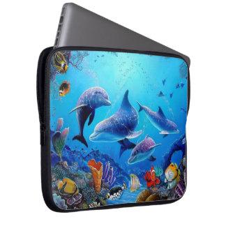 Capa Para Computador Golfinho azul do mar