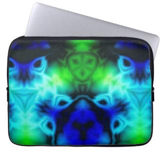 Capa Para Computador Imagem do caleidoscópio com azuis e gree