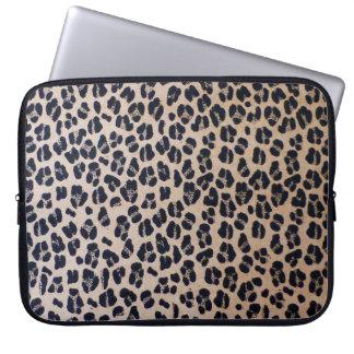 """Capa Para Computador Impressão 15"""" do leopardo a bolsa de laptop do"""