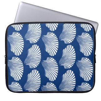 Capa Para Computador Impressão, azuis marinhos e branco de bloco de
