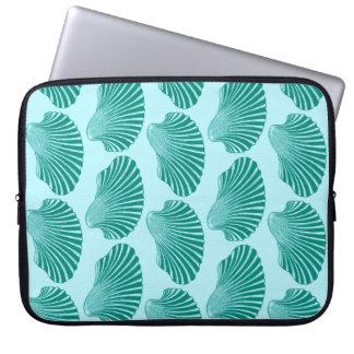 Capa Para Computador Impressão de bloco de Shell de Scallop, turquesa e