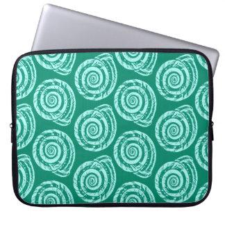 Capa Para Computador Impressão de bloco do Seashell, turquesa e Aqua