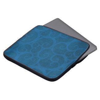 Capa Para Computador Linhas das ondas azuis