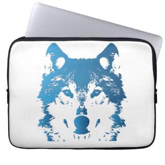 Capa Para Computador Lobo do azul de gelo da ilustração