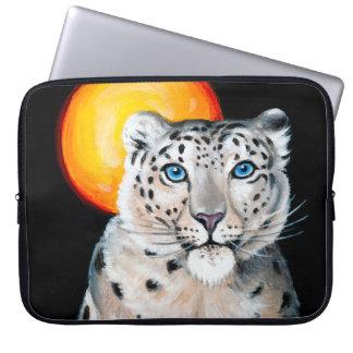 Capa Para Computador Lua do leopardo de neve