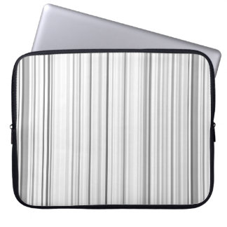 Capa Para Computador Luz cinzenta branca listrada das listras verticais