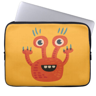 Capa Para Computador Monstro bonito de sorriso Eyed grande engraçado