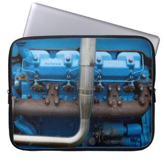 Capa Para Computador Motor azul do trator