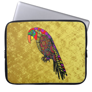 Capa Para Computador Papagaios no ouro azul verde vermelho amarelo