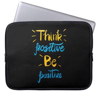 Capa Para Computador Pense que o positivo seja a bolsa de laptop
