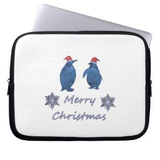 Capa Para Computador Pinguins do Natal