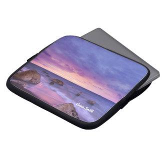 Capa Para Computador Praia rochosa na bolsa de laptop personalizada por