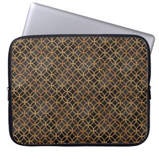 Capa Para Computador Preto e teste padrão sem emenda do ouro