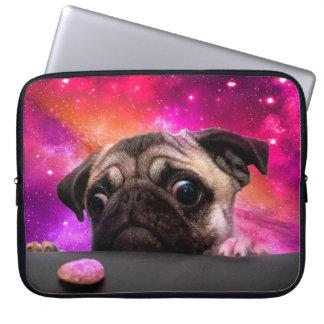 Capa Para Computador pug do espaço - comida do pug - biscoito do pug