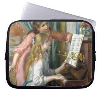 Capa Para Computador Raparigas no piano - Pierre Renoir