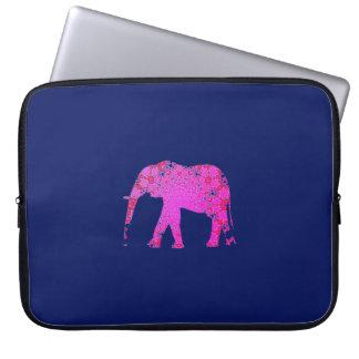 Capa Para Computador Silhueta quente do elefante cor-de-rosa