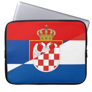 Capa Para Computador símbolo do país da bandeira de serbia croatia meio
