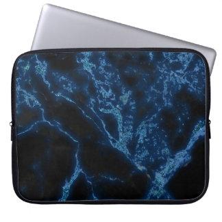 Capa Para Computador Teste padrão azul escuro e azul da pedra do