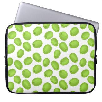 Capa Para Computador Teste padrão com azeitonas verdes