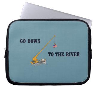 Capa Para Computador Vá para baixo ao rio