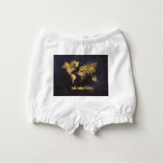 Capa Para Fralda amarelo preto do mapa do mundo
