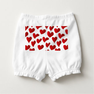 Capa Para Fralda Amor vermelho pintado teste padrão do coração da