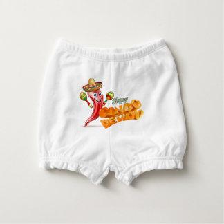 Capa Para Fralda Design mexicano da pimenta feliz de Cinco De Mayo