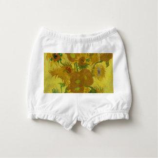 Capa Para Fralda Girassóis de Vincent van Gogh - arte clássica