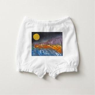 Capa Para Fralda Lua amarela sobre a paisagem metamórfica