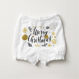 Capa Para Fralda Mão dourada bonito escrita brilhos do Feliz Natal