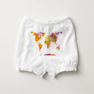 Capa Para Fralda mapa do mundo