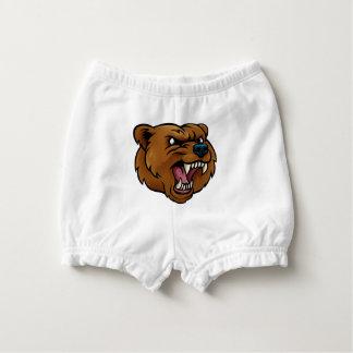 Capa Para Fralda O urso de urso ostenta a cara irritada da mascote