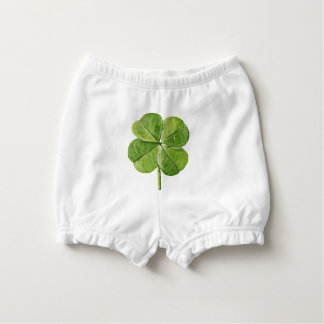 Capa Para Fralda Trevo afortunado verde do trevo da Quatro-folha