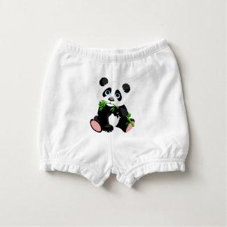 Capa Para Fralda Urso de panda preto e branco que come o bambu