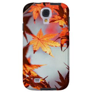 Capa Para Galaxy S4 Árvore de bordo vermelha das folhas de outono da