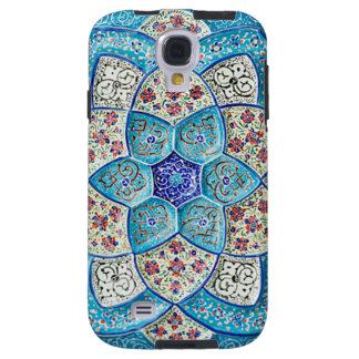Capa Para Galaxy S4 Azul de turquesa marroquino tradicional, branco,