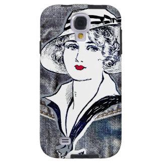 Capa Para Galaxy S4 Design da sarja de Nimes/brim & impressão da forma